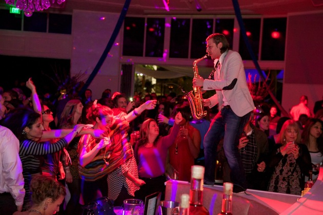 Sax Player at Bagatelle Grand Opening