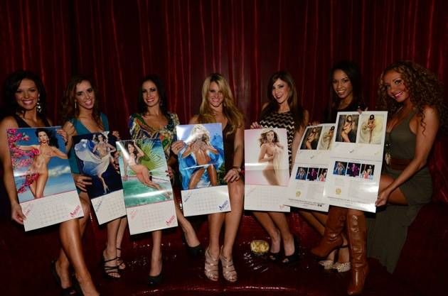 The FANTASY Cast Poses With Their Barely Bejeweled Calendar