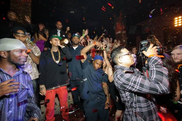 Hip hop artist, Tyga, at TAO