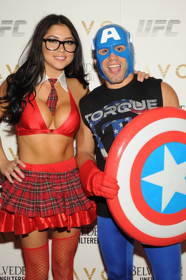 Urijah Faber and Arianny Celeste_LAVO Red Carpet