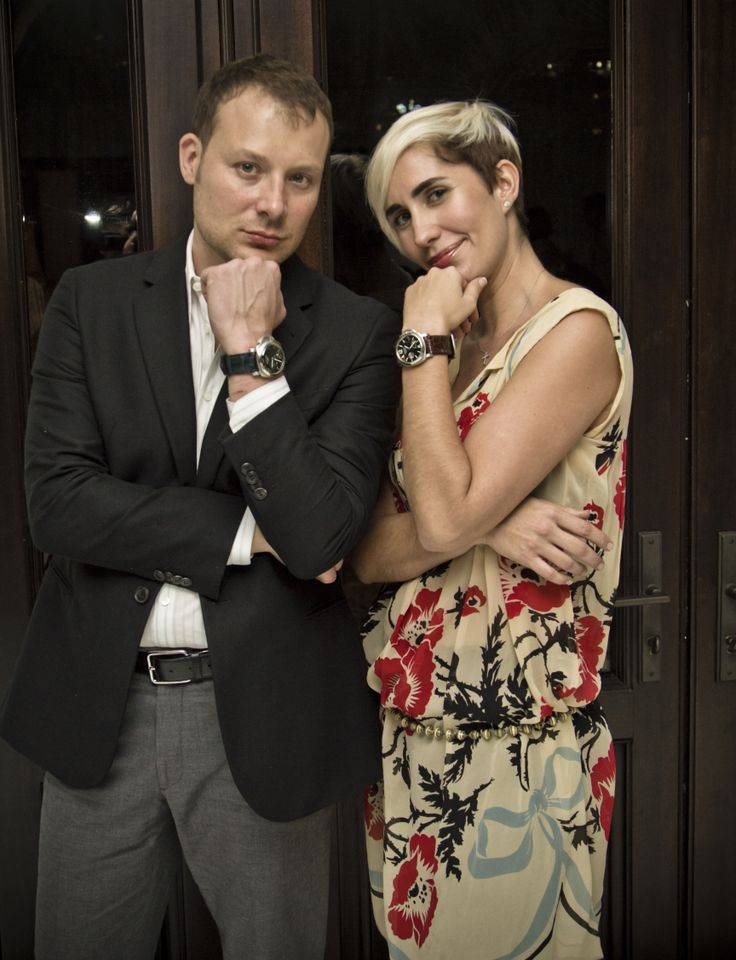 Michael Garlitz and Marcella Novela wearing Panerai