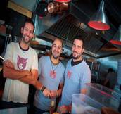 Pubbelly owners,  from left: Andreas Schreiner, Sergio Navarro, and Jose Mendin