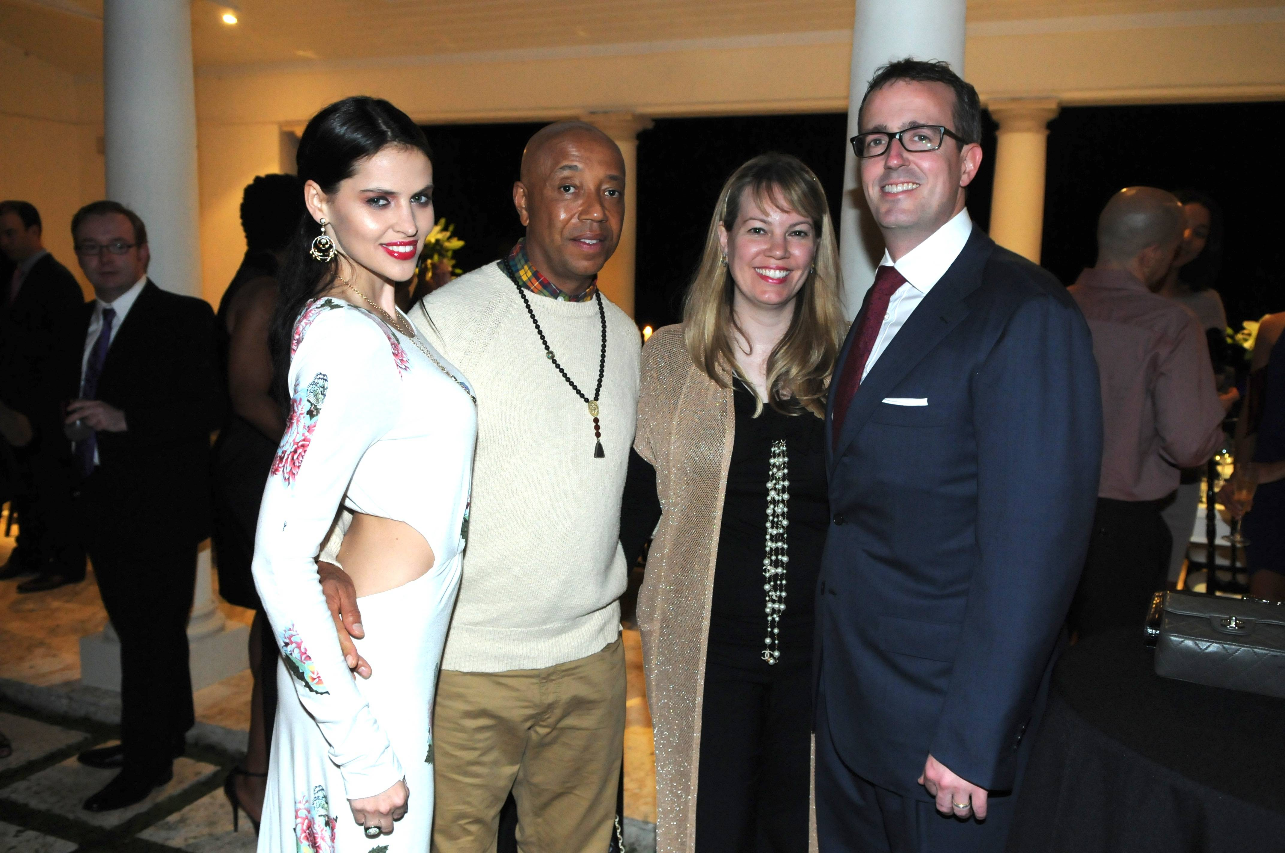 03 Model Hana Nitsche, Russell Simmons, Allison & Chip Brady