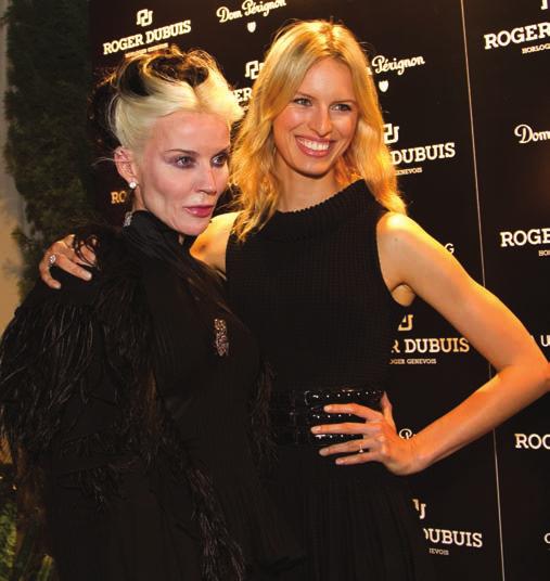 Daphne Guinness and Karolina Kurkova