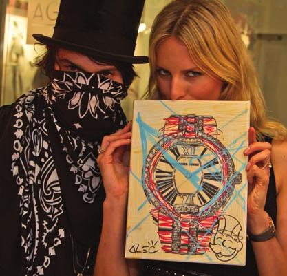 Alec Monopoly and Karolina Kurkova