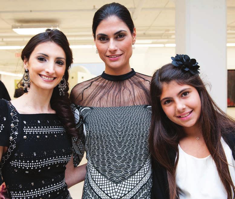 Soraya Abu Nabaa, Jennifer Nader and Miller Nader