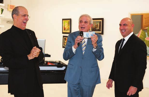 Joe Berardo, Mayor Tomas Regalado and Gary Nader