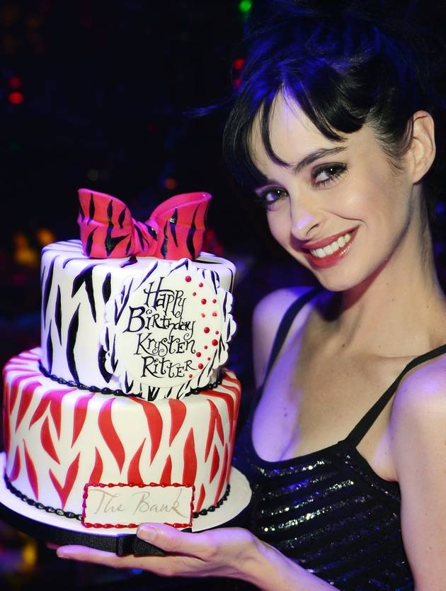 Actress Krysten Ritter Celebrates Her 31st Birthday At The Bank Nightclub
