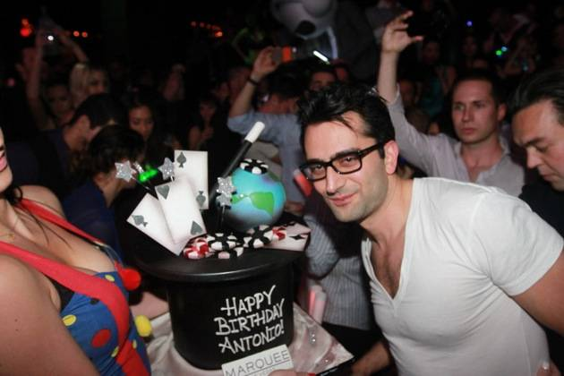 Antonio Esfandiari celebrates his birthday at Marquee. Photos: Hew Burney