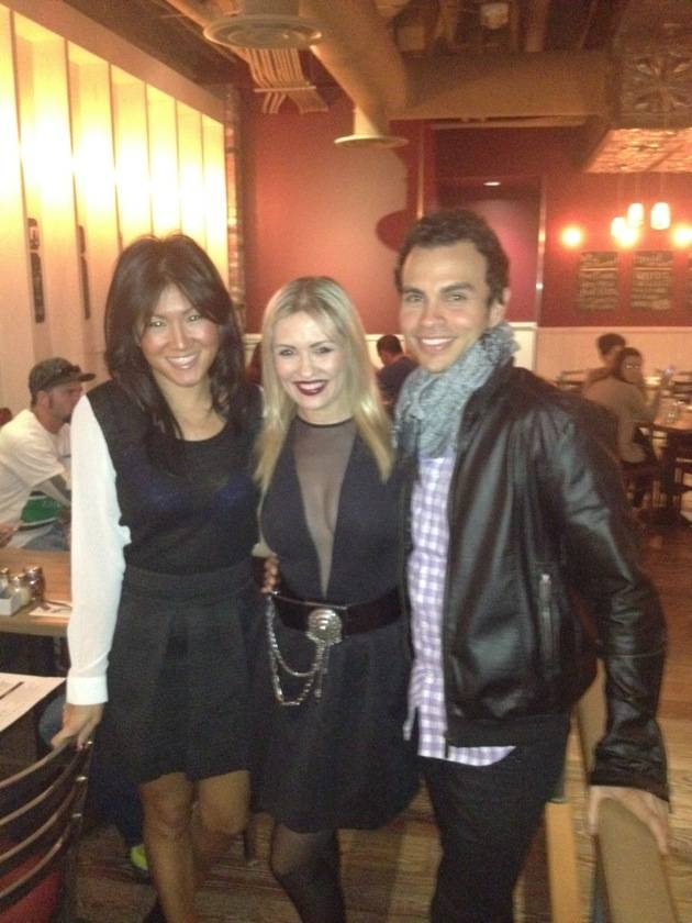Anya Garnis and friends at Meatball Spot