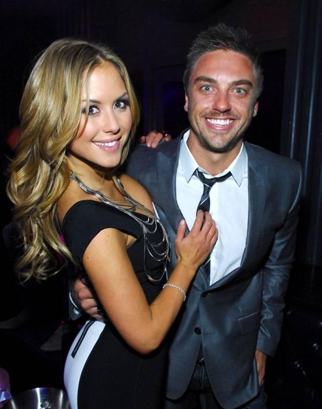 Brittney Palmer and her boyfriend