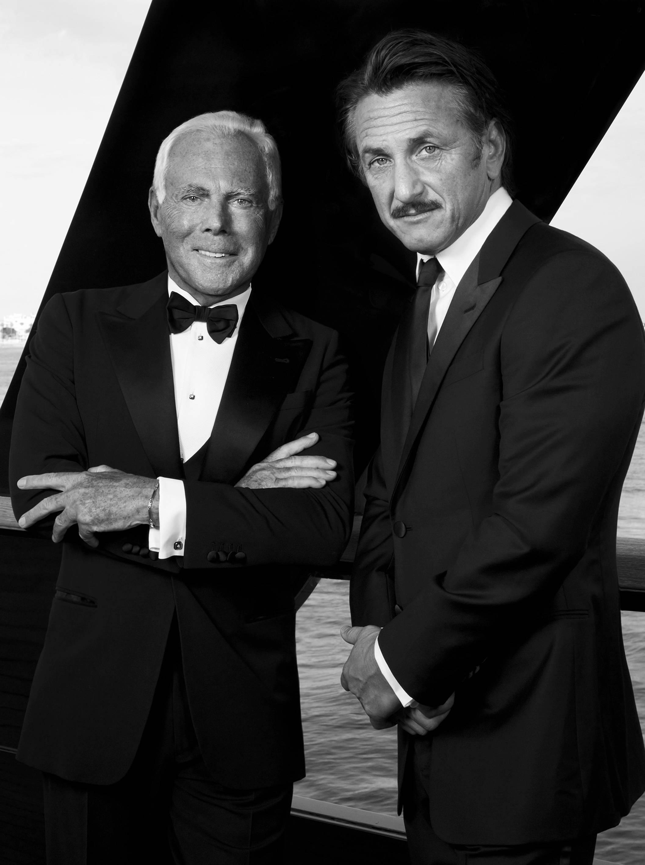 Giorgio Armani and Sean Penn charity campaign