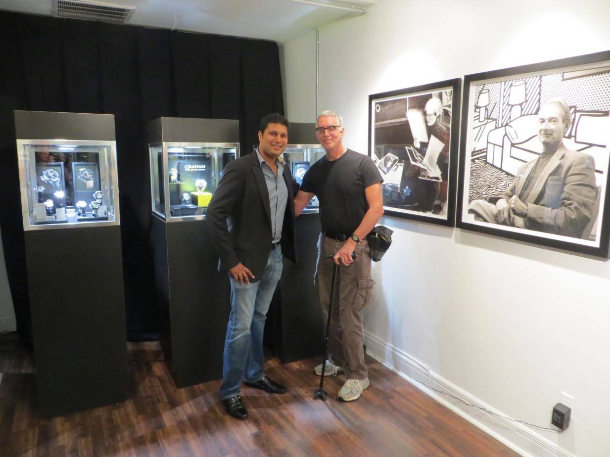 Graham's Samir Shah with photographer Robert Zuckerman