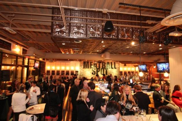 Guests Enjoy the Grand Opening of Meatball Spot