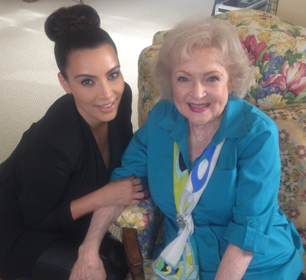Kim Kardashian and Betty White