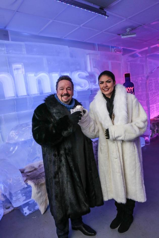 Minus5 Ice Bar Celebrity Cocktail with Terry Fator - with Taylor Makakoa 2