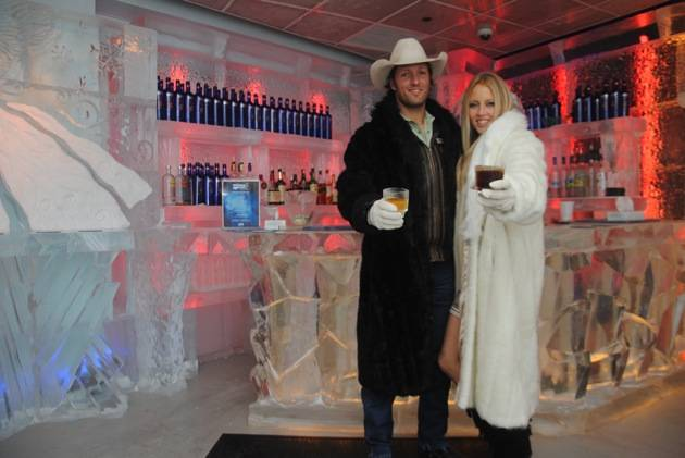 Pauline Reese Visits Minus5 Ice Bar at MandalayBay 1