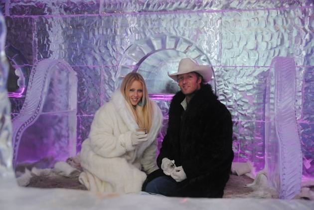 Pauline Reese Visits Minus5 Ice Bar at MandalayBay 4