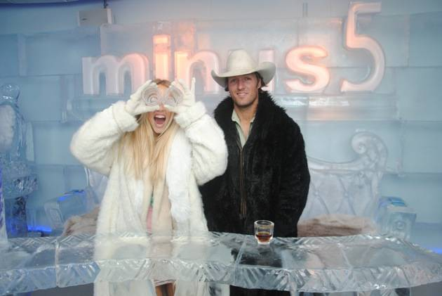 Pauline Reese Visits Minus5 Ice Bar at MandalayBay 5