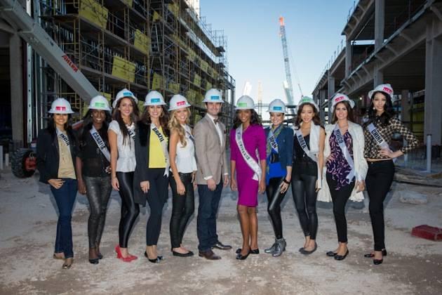 Miss Universe tours LINQ Las Vegas site in Las Vegas, NV