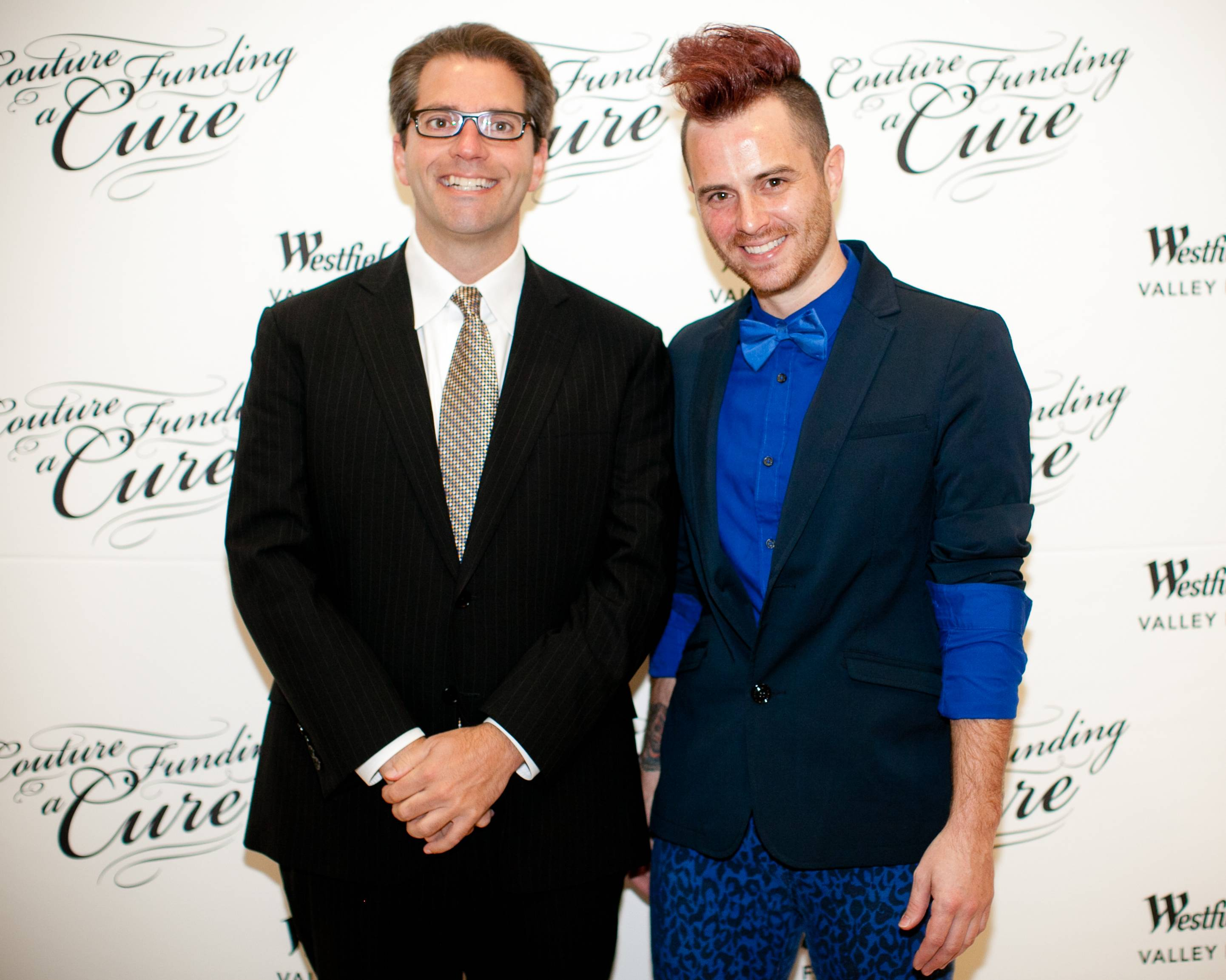 Pierluigi Oliverio, District 6 representative on the San Jose City Council, and Anthony Ryan Auld, Project Runway All Star designer on red carpet credit Moanalani Jeffery