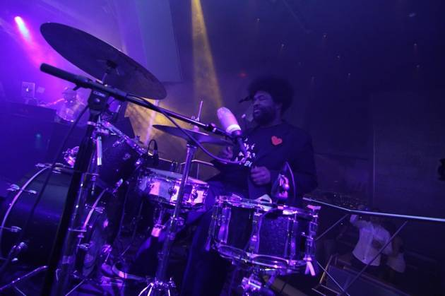 Questlove of The Roots with DJ Jazzy Jeff at Moon Nightclub in Palms Casino Resort credit Joe Fury