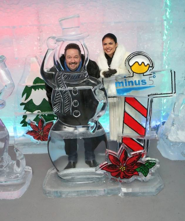 Terry and Taylor Fator at Minus5 Winter Wonderland