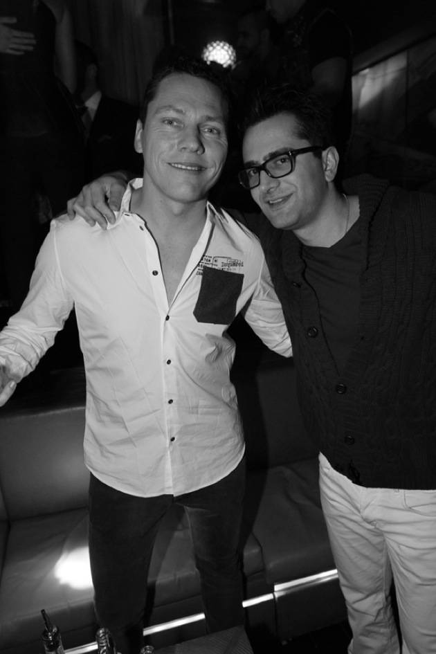 Tiesto and Antonio Esfandiari at Lost Angels at Hyde Bellagio 12.25.12