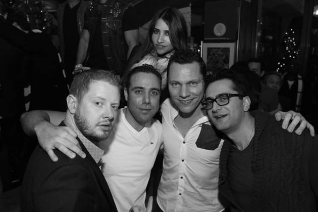 Tiesto and friends celebrating at Lost Angels at Hyde Bellagio 12.25.12