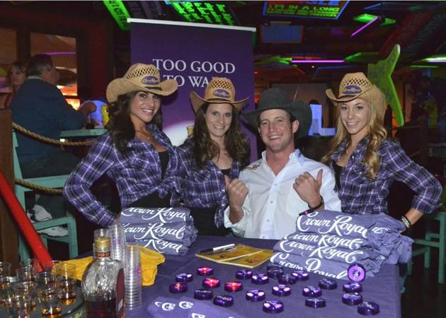 Tilden Hooper with Crown Royal girls at Senor Frog's Las Vegas