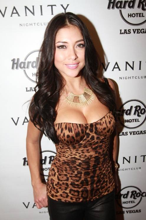 UFC Octagon Girl Arianny Celeste poses on Vanity Nightclub's red carpet 12 15 12 lr