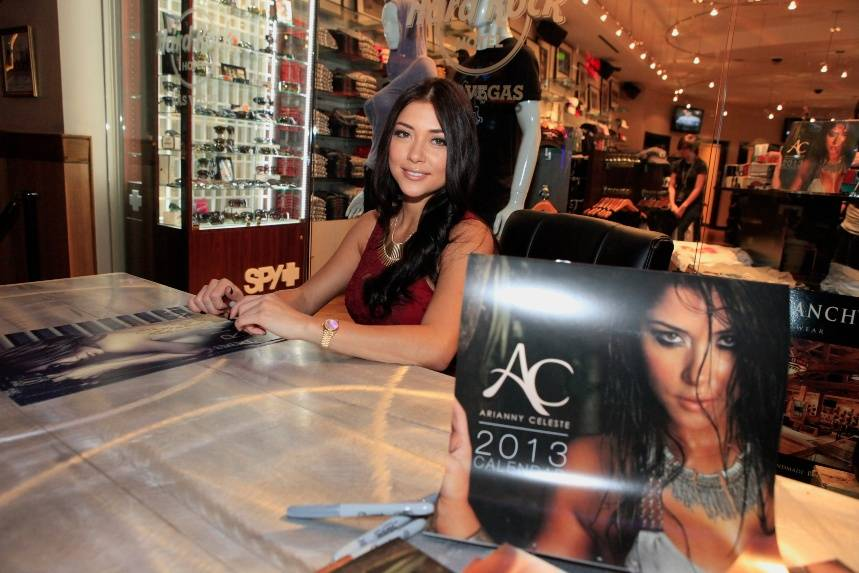 UFC Octagon girl Arianny Celeste signs calendars and meets fans at Hard Rock Hotel & Casino 12 14 12