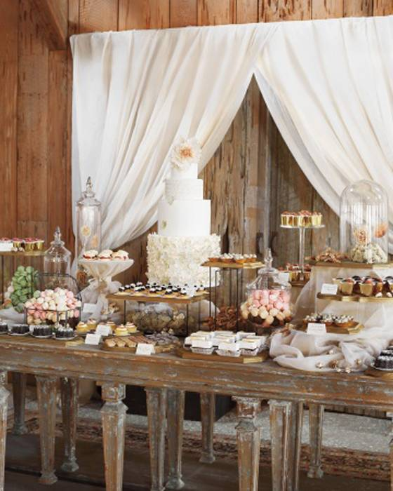 The Dessert Table Featuring The Cake