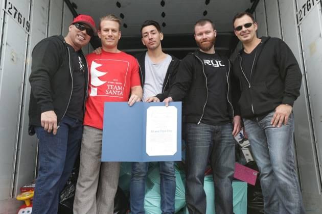 XS and Tryst executive team - Toy Drive - Lance Martinez - Eric White - Ronn Nicolli - John Wood - Yannick Mugnier - 12.5.12