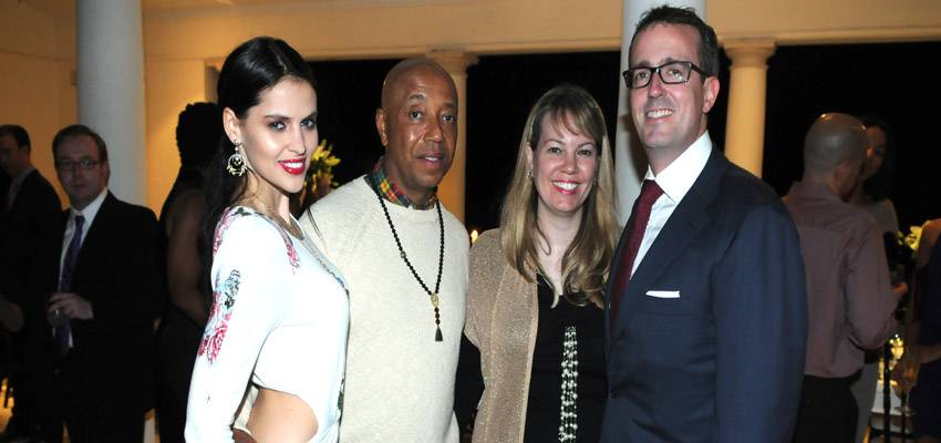 horiz03 Model Hana Nitsche, Russell Simmons, Allison & Chip Brady
