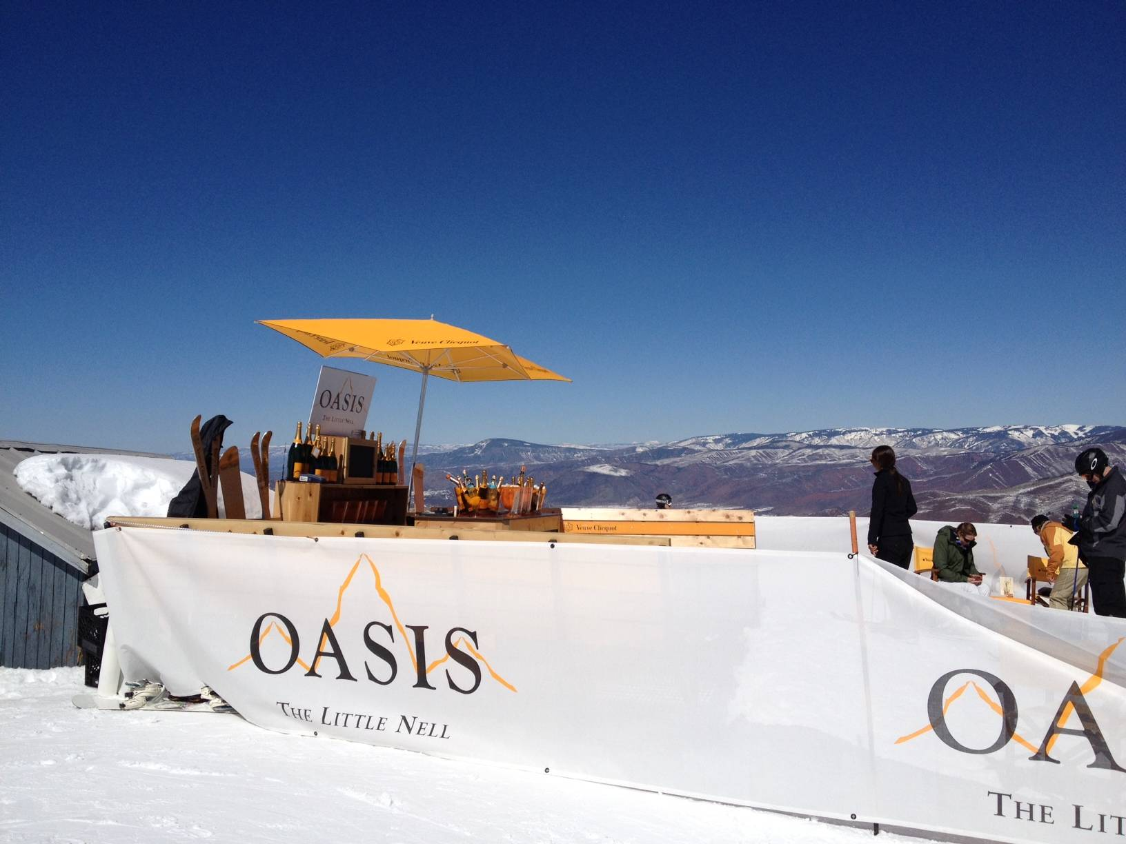 The Oasis, a Veuve-Clicquot-serving pop-up bar on Aspen Mountain in early 2012.