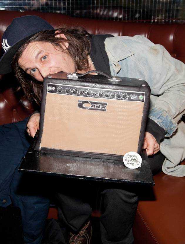 1.11.13 Nick Valensi of The Strokes celebrates his birthday at Body English Nightclub & Afterhours in Hard Rock Hotel & Casino, credit Erik Kabik