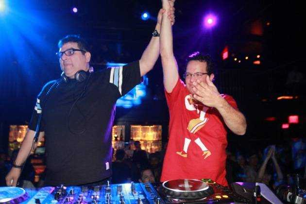1.26.13 Doc Martin and Mark Farina play together at Body English Nightclub & Afterhours, credit Hew Burney