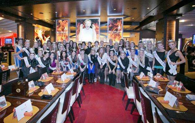 2013 Miss America Contestants at Gordon Ramsay BurGR