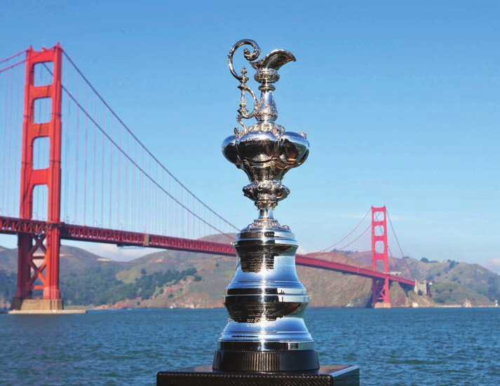 America's Cup and Golden Gate Bridge.