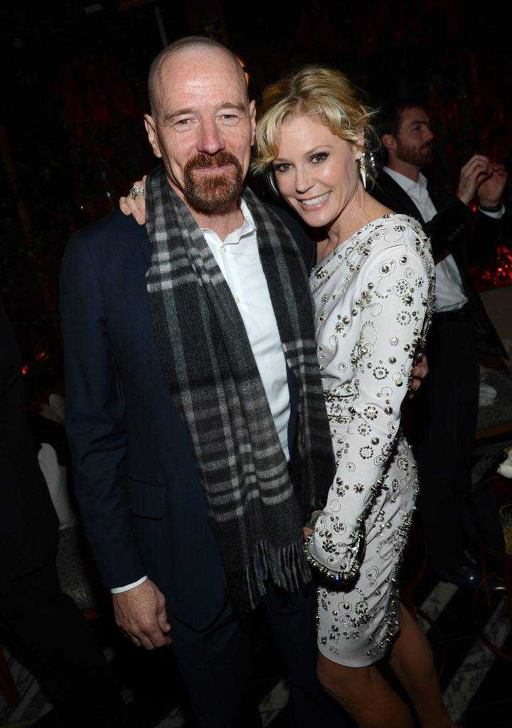 Bryan Cranston & Julie Bowen at the Audi pre-Golden Globes party