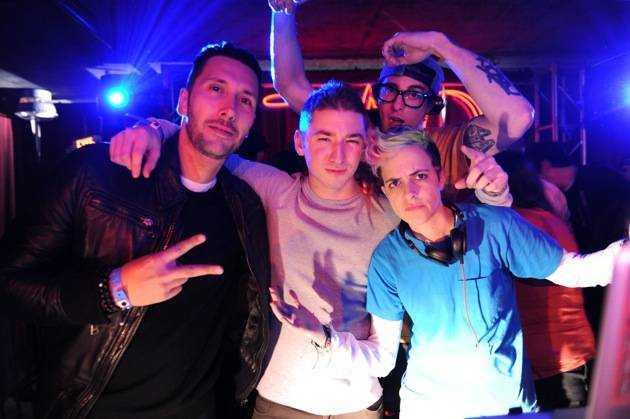 Cedric Gervais, DJ Politik, DJ Bizzy, and Samantha Ronson at Marquee + Stella Artois present TAO Nightclub Sundance