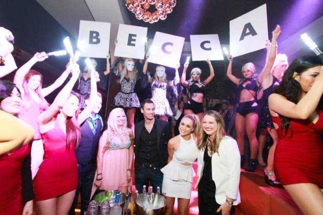Glee's Becca Tobin celebrates birthday at Hyde Bellagio, Las Vegas, 1.26.13 (2)