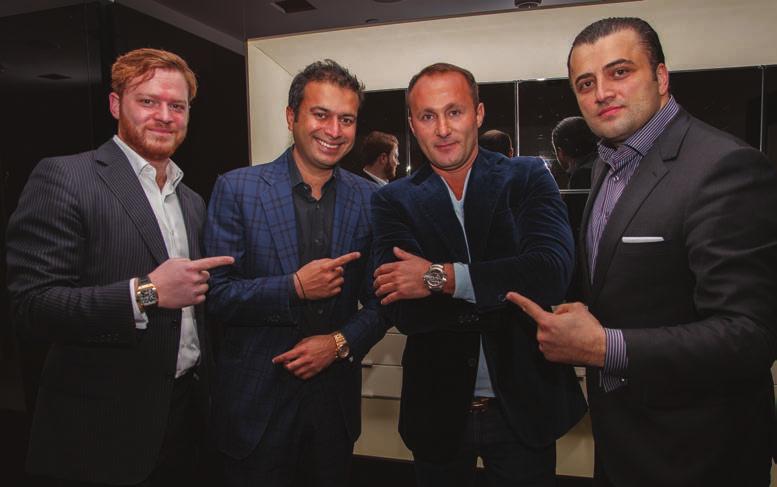 Greg Simonian, Publisher Kamal Hotchandani, Andy Khawaja & Wael El Saadi.