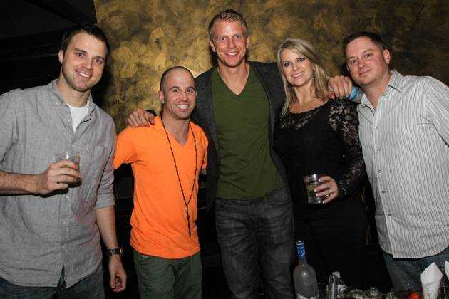 Sean Lowe with his friends at Haze Nightclub.