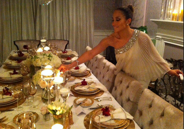 Getting my Jackie O on for New Years Eve dinner party!! —JLo
