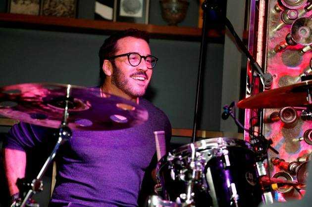 Jeremy Piven drums at Hyde Bellagio, Las Vegas NYE 12.31.12