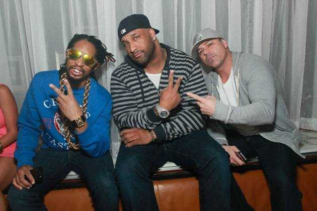 Lil Jon parties with friends at Hyde Bellagio, Las Vegas, 1.1.13 (1)
