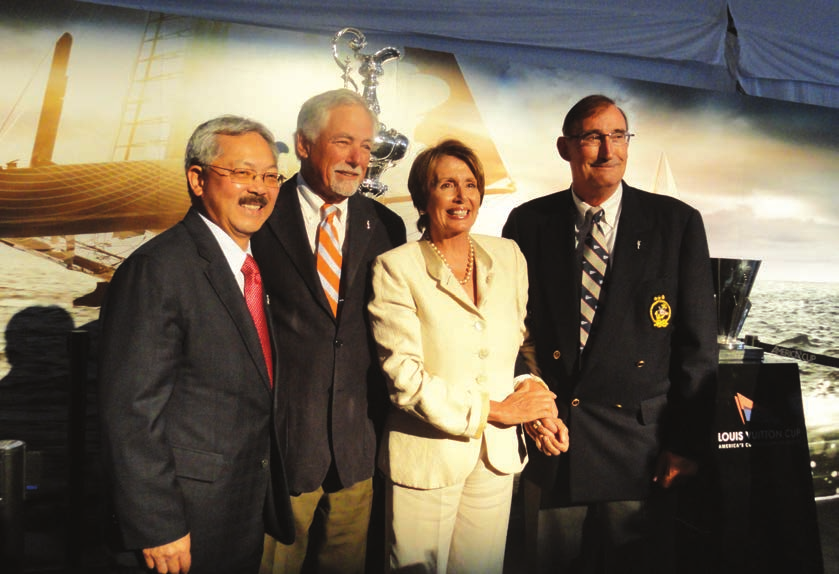 Mayor Ed Lee, Mark Buell, Nancy Pelosi and Commodore Norbert Bajurin