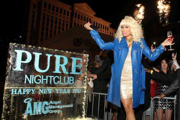 Nicki Minaj Celebrates New Year's Eve At PURE Nightclub